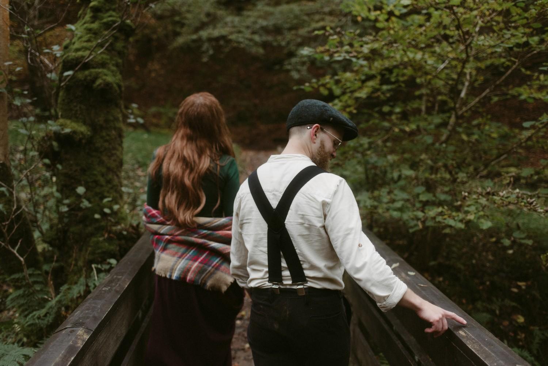 Engagement photographer Glencoe Scotland Elopement Wedding Grey Mare's Waterfall _Chloe & Caleb-103