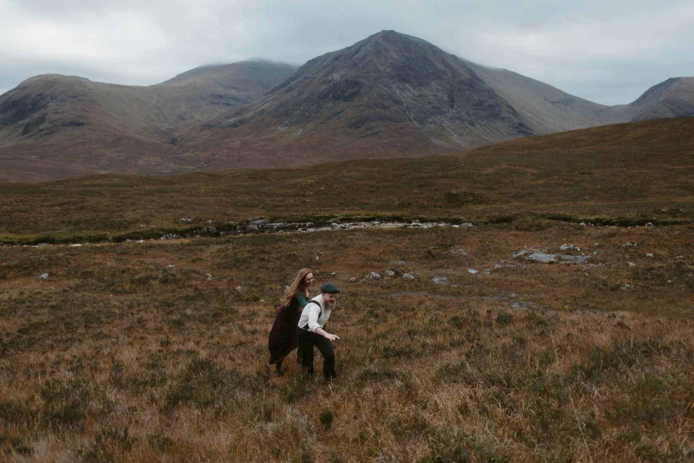 Engagement photographer Glencoe Scotland Elopement Wedding Grey Mare's Waterfall _Chloe & Caleb-110