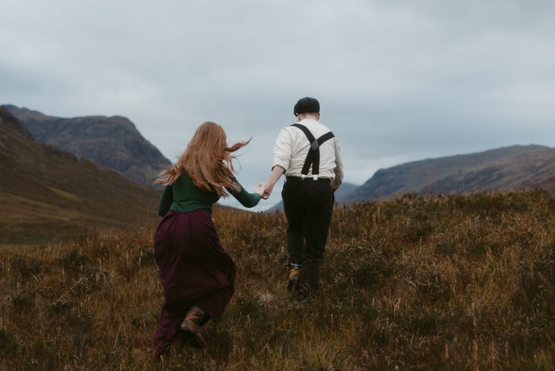 Engagement photographer Glencoe Scotland Elopement Wedding Grey Mare's Waterfall _Chloe & Caleb-111