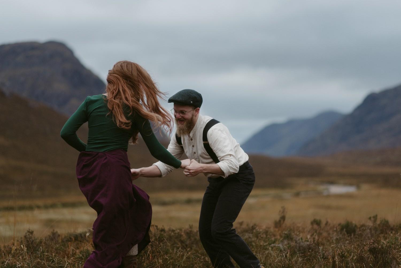 Engagement photographer Glencoe Scotland Elopement Wedding Grey Mare's Waterfall _Chloe & Caleb-124