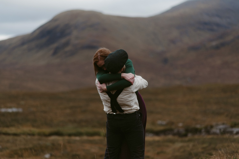 Engagement photographer Glencoe Scotland Elopement Wedding Grey Mare's Waterfall _Chloe & Caleb-127