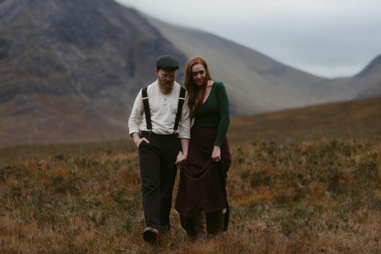 Engagement photographer Glencoe Scotland Elopement Wedding Grey Mare's Waterfall _Chloe & Caleb-128
