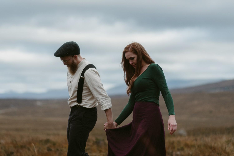 Engagement photographer Glencoe Scotland Elopement Wedding Grey Mare's Waterfall _Chloe & Caleb-129