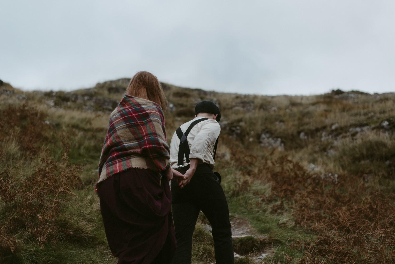 Engagement photographer Glencoe Scotland Elopement Wedding Grey Mare's Waterfall _Chloe & Caleb-131