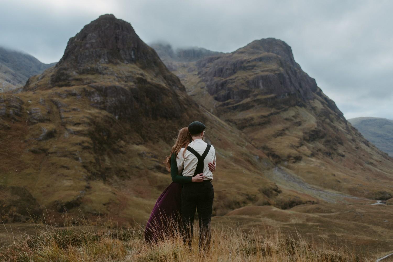 Engagement photographer Glencoe Scotland Elopement Wedding Grey Mare's Waterfall _Chloe & Caleb-132
