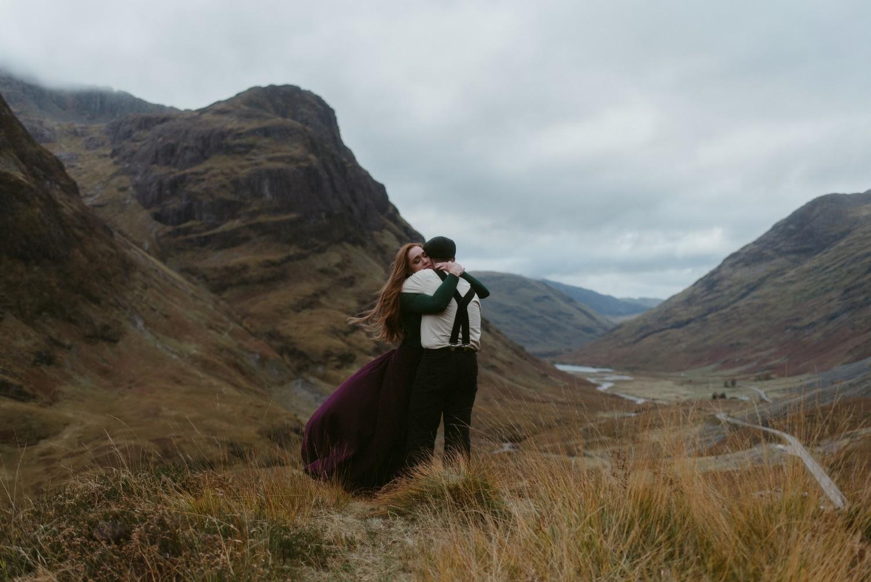Engagement photographer Glencoe Scotland Elopement Wedding Grey Mare's Waterfall _Chloe & Caleb-134