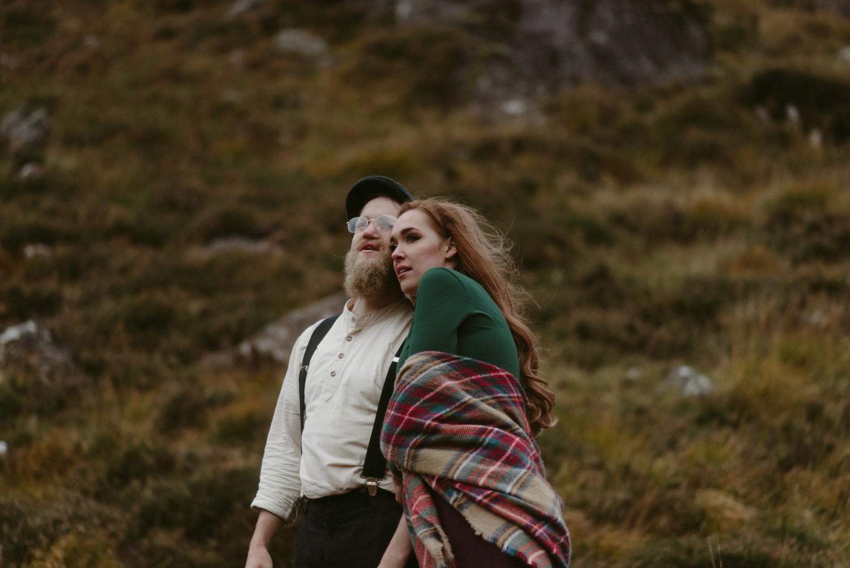 Engagement photographer Glencoe Scotland Elopement Wedding Grey Mare's Waterfall _Chloe & Caleb-142