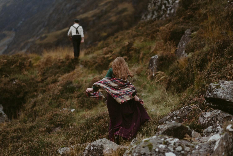 Engagement photographer Glencoe Scotland Elopement Wedding Grey Mare's Waterfall _Chloe & Caleb-143