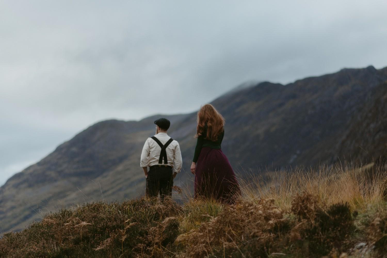 Engagement photographer Glencoe Scotland Elopement Wedding Grey Mare's Waterfall _Chloe & Caleb-144