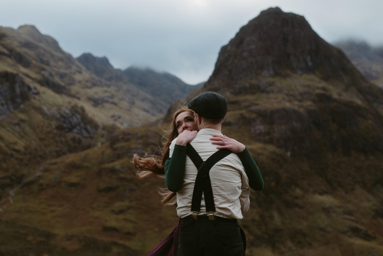 Engagement photographer Glencoe Scotland Elopement Wedding Grey Mare's Waterfall _Chloe & Caleb-145