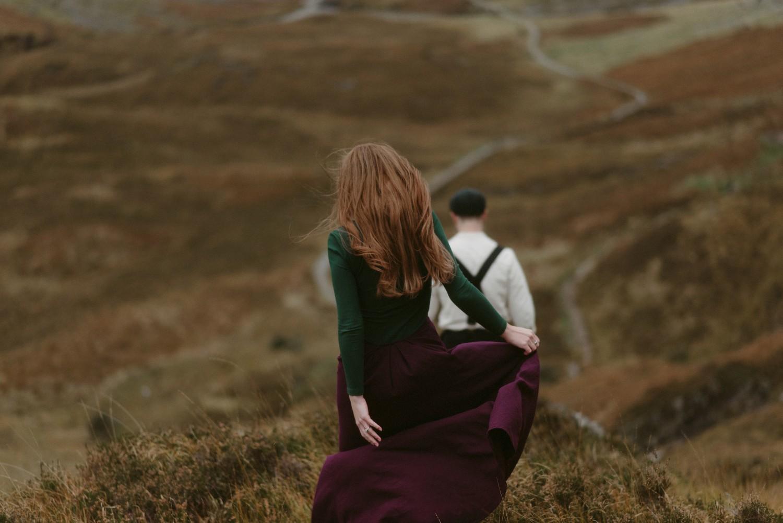 Engagement photographer Glencoe Scotland Elopement Wedding Grey Mare's Waterfall _Chloe & Caleb-149