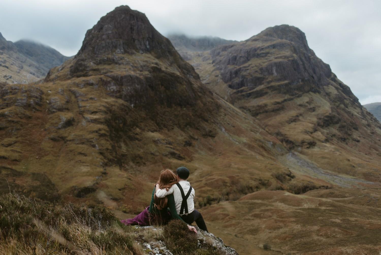 Engagement photographer Glencoe Scotland Elopement Wedding Grey Mare's Waterfall _Chloe & Caleb-150