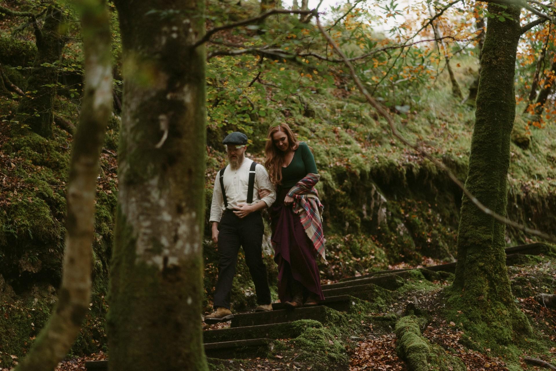 Engagement photographer Glencoe Scotland Elopement Wedding Grey Mare's Waterfall _Chloe & Caleb-37