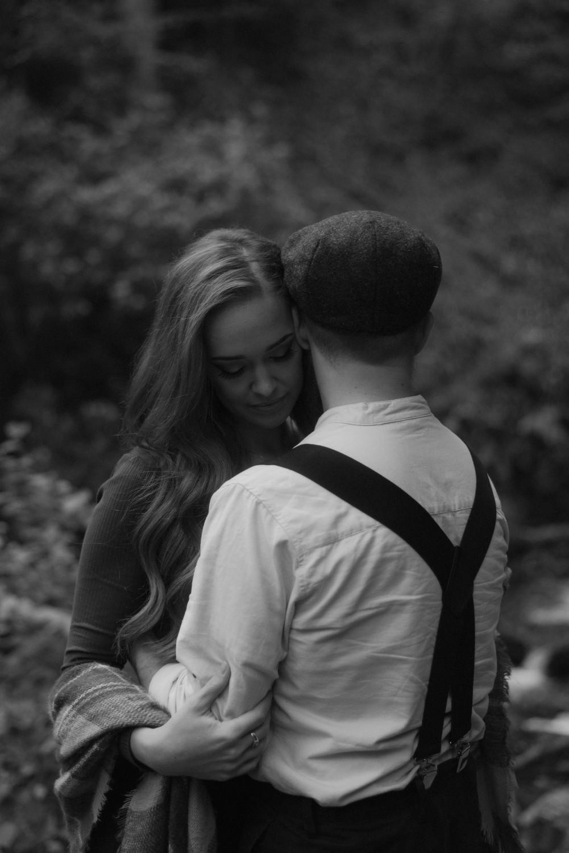 Engagement photographer Glencoe Scotland Elopement Wedding Grey Mare's Waterfall _Chloe & Caleb-46