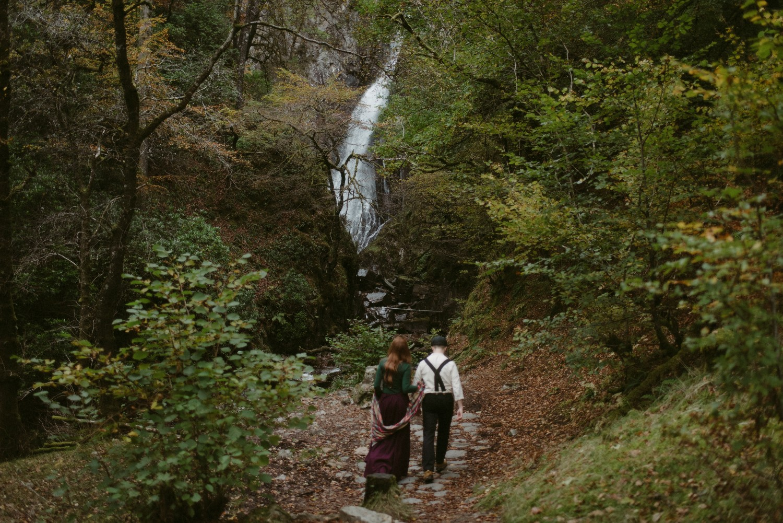 Engagement photographer Glencoe Scotland Elopement Wedding Grey Mare's Waterfall _Chloe & Caleb-47