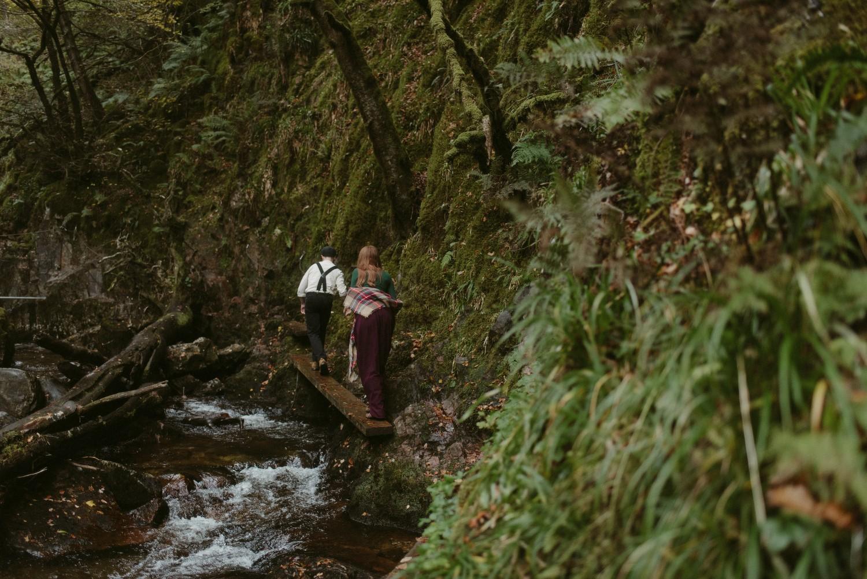 Engagement photographer Glencoe Scotland Elopement Wedding Grey Mare's Waterfall _Chloe & Caleb-50