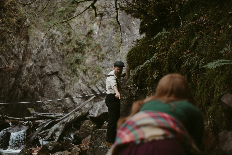 Engagement photographer Glencoe Scotland Elopement Wedding Grey Mare's Waterfall _Chloe & Caleb-54