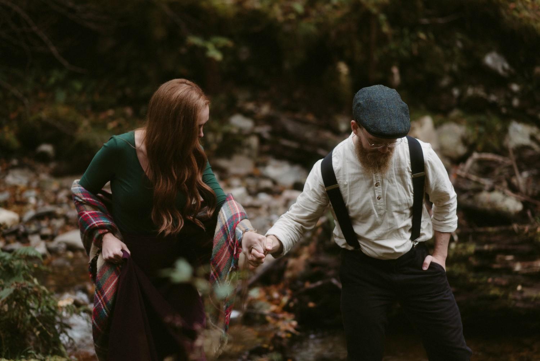 Engagement photographer Glencoe Scotland Elopement Wedding Grey Mare's Waterfall _Chloe & Caleb-72