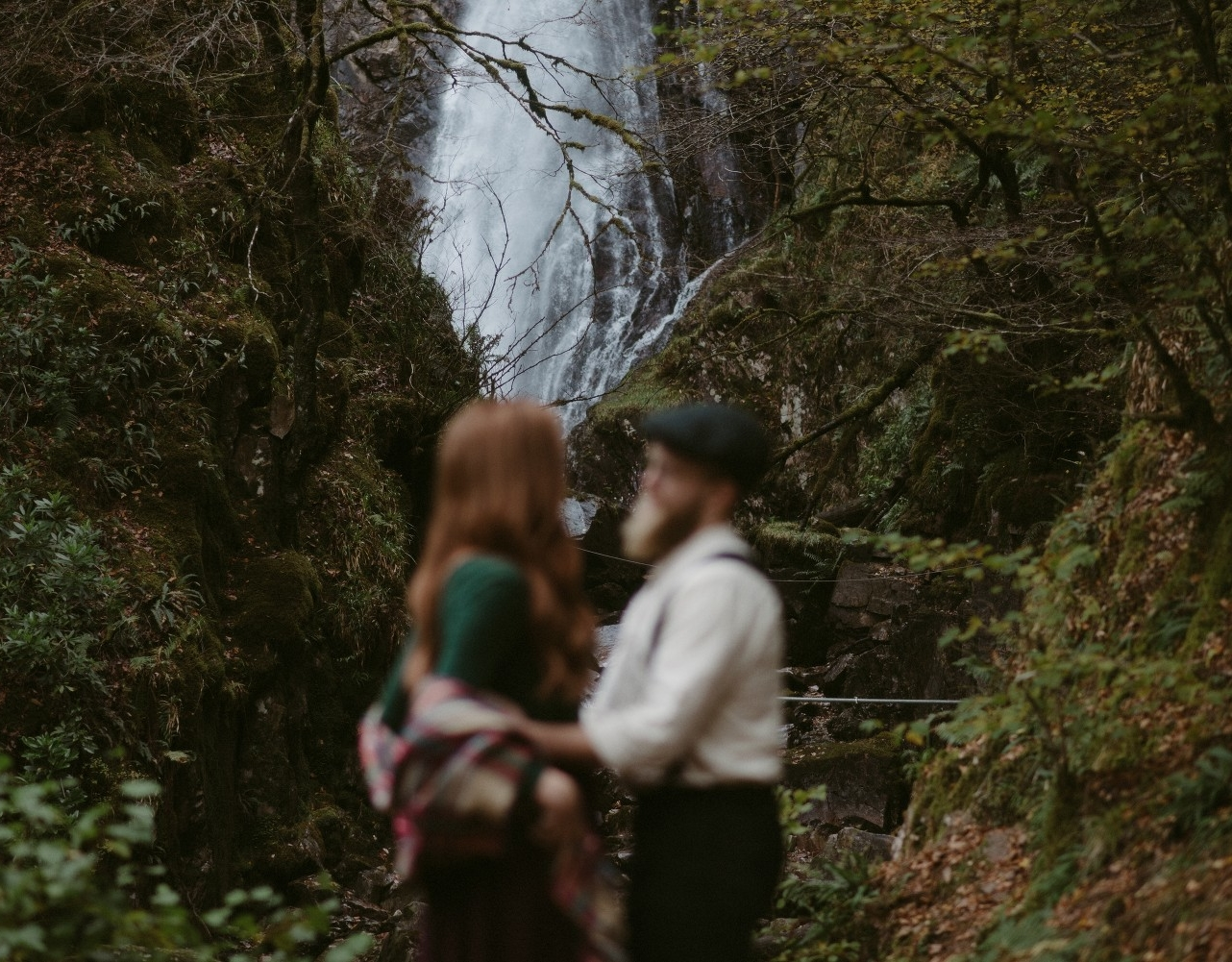 Engagement photographer Glencoe Scotland Elopement Wedding Grey Mare's Waterfall _Chloe & Caleb-77