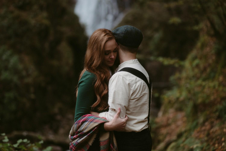 Engagement photographer Glencoe Scotland Elopement Wedding Grey Mare's Waterfall _Chloe & Caleb-79