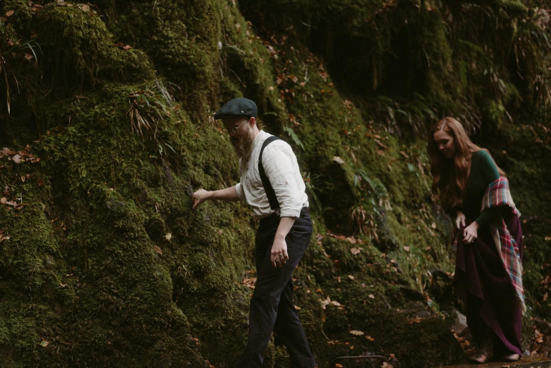 Engagement photographer Glencoe Scotland Elopement Wedding Grey Mare's Waterfall _Chloe & Caleb-80