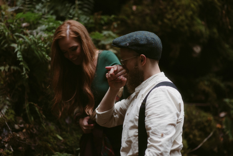 Engagement photographer Glencoe Scotland Elopement Wedding Grey Mare's Waterfall _Chloe & Caleb-86
