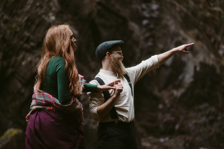 Engagement photographer Glencoe Scotland Elopement Wedding Grey Mare's Waterfall _Chloe & Caleb-88