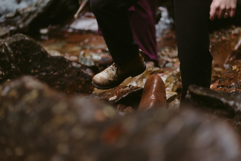 Engagement photographer Glencoe Scotland Elopement Wedding Grey Mare's Waterfall _Chloe & Caleb-93