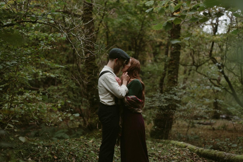 Engagement photographer Glencoe Scotland Elopement Wedding Grey Mare's Waterfall _Chloe & Caleb-98