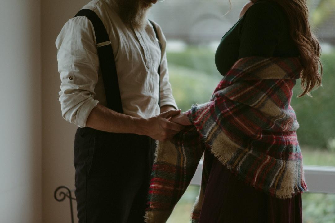 Engagement photographer Glencoe Waterfall Scotland Elopement Wedding _Chloe & Caleb-29