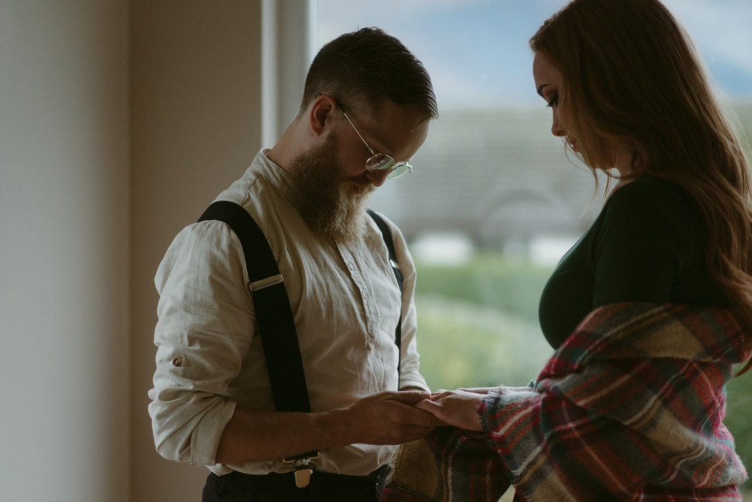 Engagement photographer Glencoe Waterfall Scotland Elopement Wedding _Chloe & Caleb-30