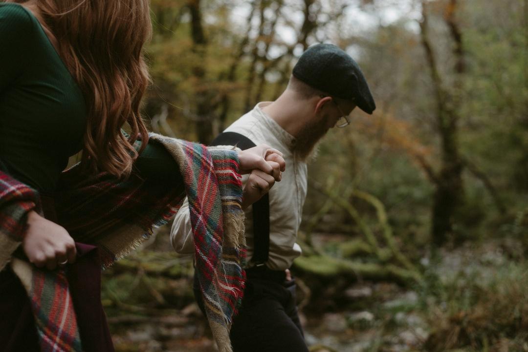 Engagement photographer Glencoe Waterfall Scotland Elopement Wedding _Chloe & Caleb-40