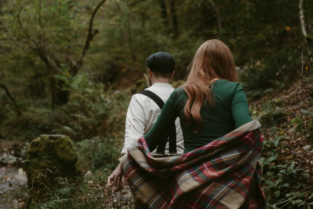 Engagement photographer Glencoe Waterfall Scotland Elopement Wedding _Chloe & Caleb-41