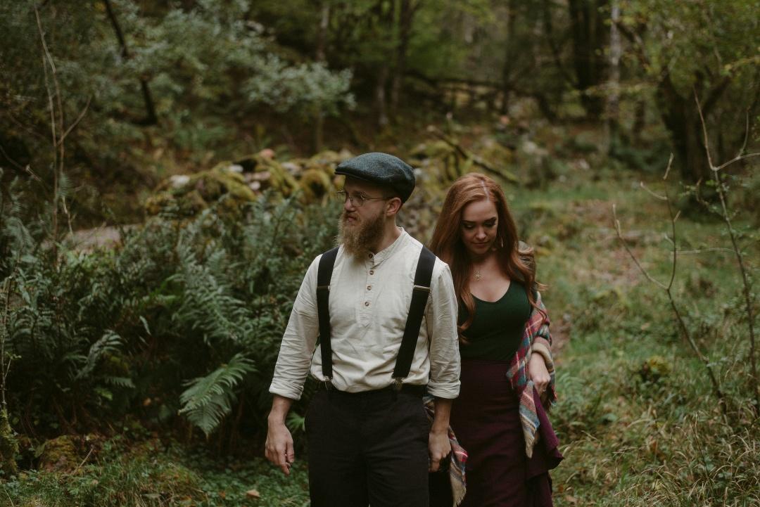 Engagement photographer Glencoe Waterfall Scotland Elopement Wedding _Chloe & Caleb-44