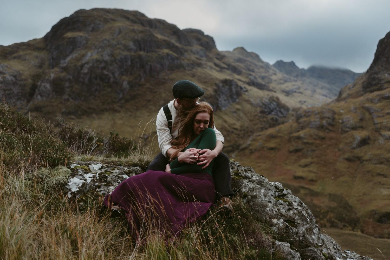 Scotland Engagement photographer Glencoe Elopement Wedding Grey Mare's Waterfall _Chloe & Caleb-135