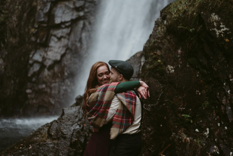 Scotland Engagement photographer Glencoe Elopement Wedding Grey Mare's Waterfall _Chloe & Caleb-57